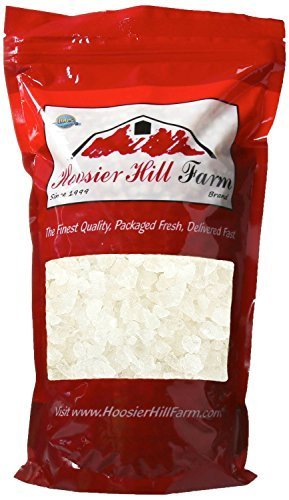 Hoosier Hill Farm Pure White Rock Candy Crystals, 1 lb.