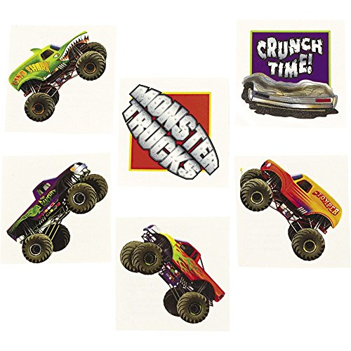 Price comparison product image Monster Truck Tattoos (Each)