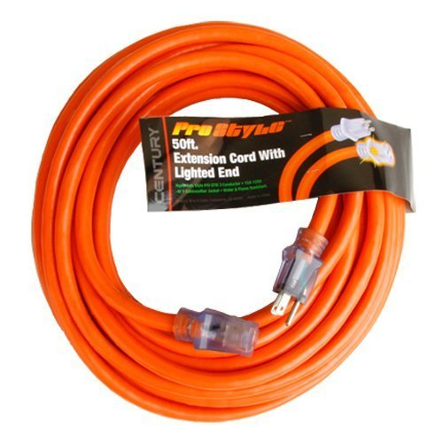 ProStyle 50ft. #10 SJTW 3 Conductor Extension Cord with Lighted Ends - Orange