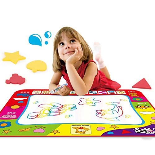 Lioder Water Drawing Mat Aqua Magic Doodle Kids Toys Mess Free Coloring Painting Educational Writing Mats Xmas Gift for Toddlers Boys Girls Age of 2,3,4,5,6 Year Old