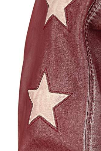 Chaqueta Gipsy Latrev Rojo De Mujer Piel Cady RREW87qrcg