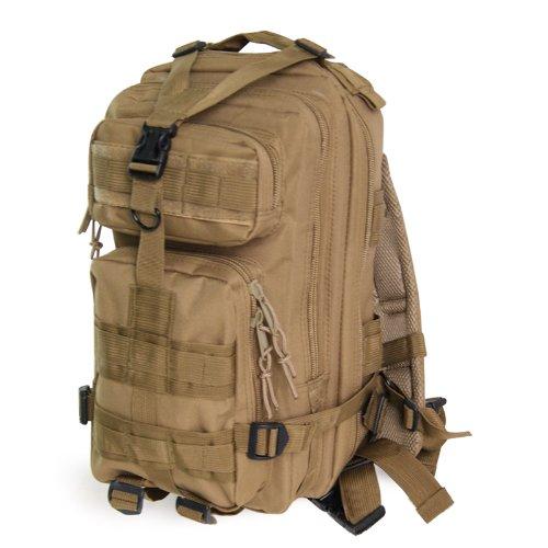 TOOGOO (R) 30L Taktik Militaer Aussen Rucksack Camping Wandern Trekking Tasche - Khaki