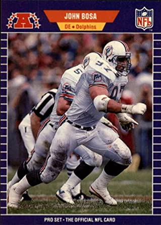 Amazon 1989 Pro Set Football Card 211 John Bosa Mint Collectibles Fine Art