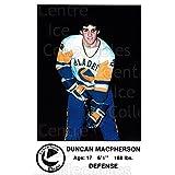 Duncan Macpherson Hockey Card 1983-84 Saskatoon Blades #4 Duncan Macpherson