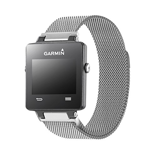 Oitom Replacement Band/Strap for GARMIN VIVOACTIVE Smart Fitness Watch, Large, Silver