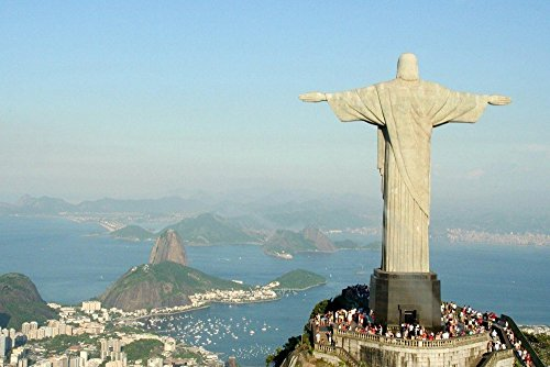Brasil Christ The Redeemer Rio De Janeiro Statue - Art Print Poster Wall Decor Home Decor(28x20inches) (Statue Christ Rio Redeemer)