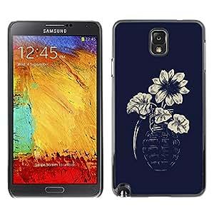 Be Good Phone Accessory // Dura Cáscara cubierta Protectora Caso Carcasa Funda de Protección para Samsung Note 3 N9000 N9002 N9005 // Flower Grenade Hipster Art