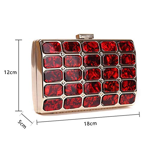 Party Prom Clutches Evening Rabbit For Dress Bag Bling Crystal Red Bag Rhinestone Hand Women Lovely Clutch Wedding WPc7fq7