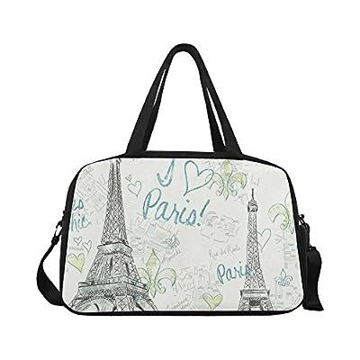 42241424d679 InterestPrint Eiffel Tower Duffel Bag Travel Tote Bag Handbag Luggage outlet