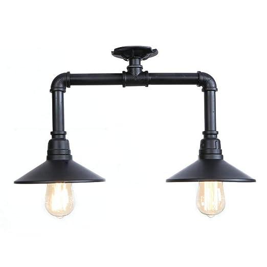 Amazon.com: Lámpara de techo vintage con tubo de agua ...