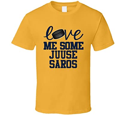 best loved 0cb56 feab2 Juuse Saros Love Me Some Nashville Hockey Fan T Shirt ...