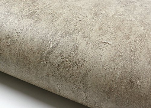 ROSEROSA Peel & Stick Rust Brick Pattern Backsplash Slate Stone Concrete Contact Paper Self-adhesive Wallpaper Shelf Liner Table and Door Reform (AB010 : 2.00 Feet X 6.56 Feet)