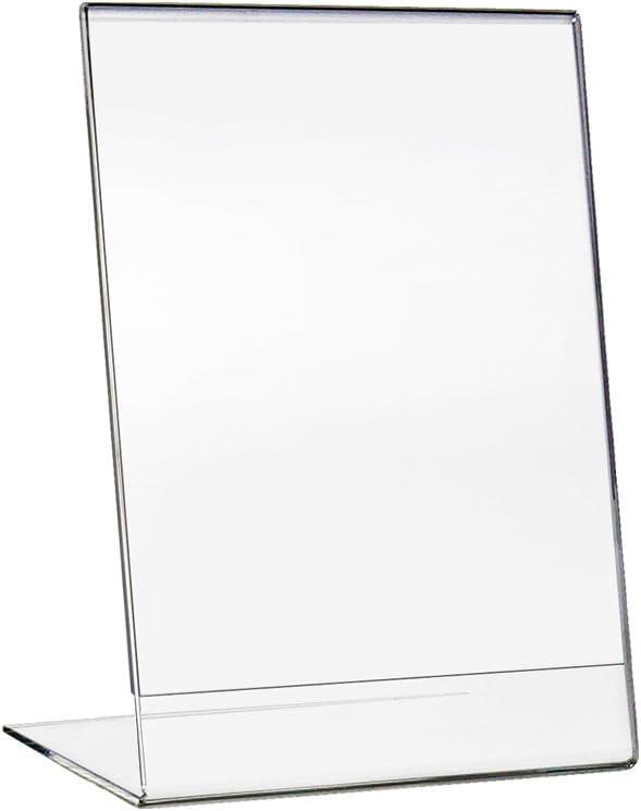 HMF 46925-10 x Supporto Pubblicitario Formato Orizzontale A4 30 x 22,2 x 10 cm Supporto del Menu acrilico