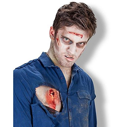 Fancy Face Paint Color Halloween Bullet Entry And Exit Wound Appliance Kit