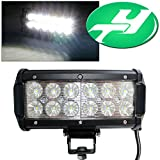YINTATECH 1X 36W 6 Inch Dual Row 12 LEDs Flood Work Light Bar For ATV 4x4 Jeep Offroad Tractor Marine Truck ATV SUV Boat Driving Lamp