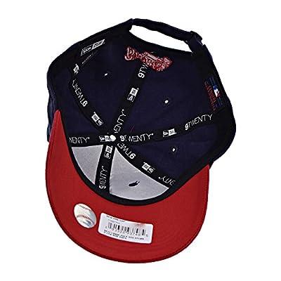 New Era Atlanta Braves July 4th 9Twenty Men's Strapback Hat Cap Navy Blue/Red 11467710