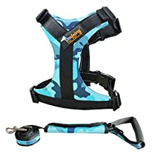 Big Dog Body Harness Padded Extra Big Large Medium Small Heavy Duty vary from All kinds of size, 2 Pieces Camo Blue,X-large