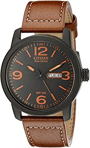 Citizen Eco-Drive Men's BM8475-26E Stainless Steel Watch with Leather Strap (Citizen 26e)