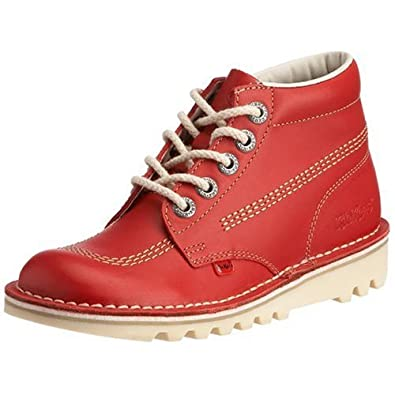 Kickers KICK HI Ladies Leather Boots Red, Rot (Red), 41 EU