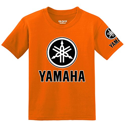 Used, Yamaha Logo with Sleeve T-shirt, 5XL Orange for sale  Delivered anywhere in USA