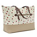 Pink Lining Notting Hill Tote Tulips and Forget Me Nots Changing Bags by Pink Lining