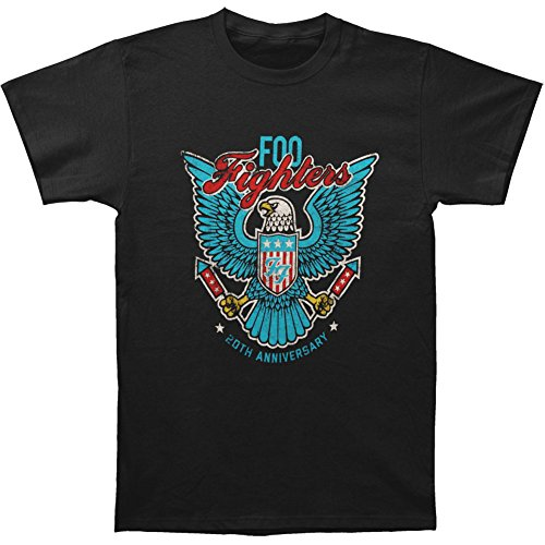 (Foo Fighters Men's RFK Eagle Slim Fit T-shirt XX-Large Black)