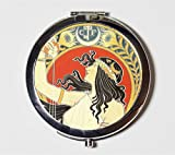 Alphonse Mucha Compact Mirror Art Nouveau Edwardian Bitter Oriental Boho Make Up Pocket Mirror for Cosmetics