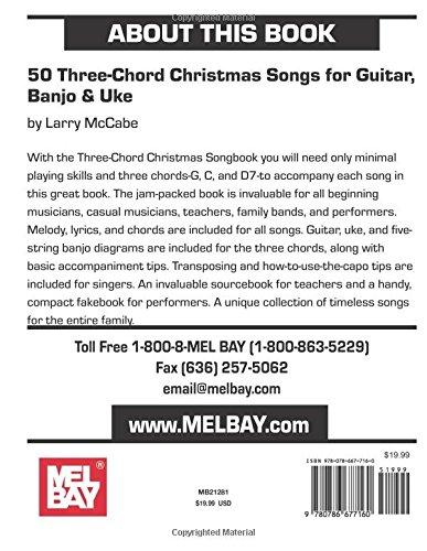 50 Three-Chord Christmas Songs for Guitar, Banjo & Uke (Mel Bay ...