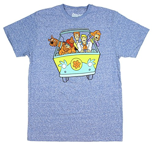 Fashion Scooby Doo Mystery Machine Van Blue Graphic T-Shirt - -