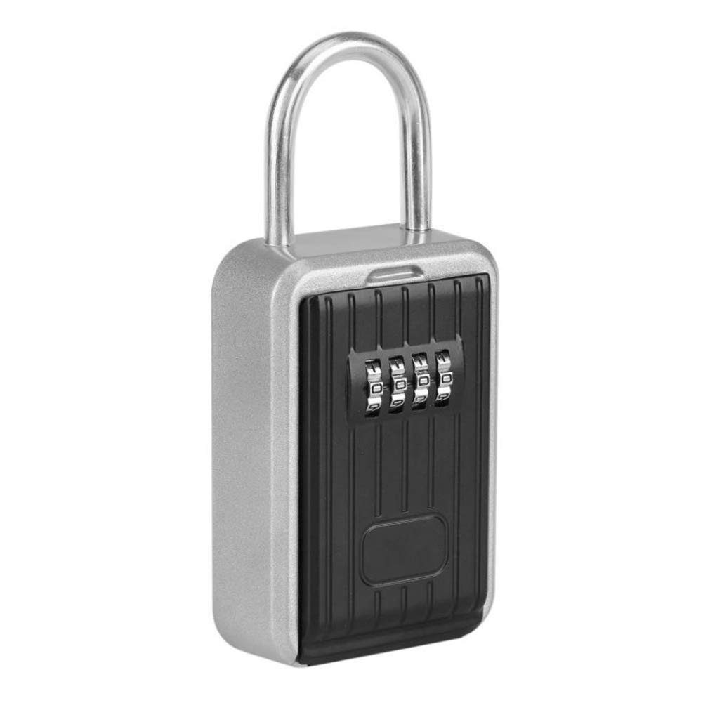 Combination Box Padlock Key Holder Key Lock Box Wall Mounted Lock Box Push Button Safe Storage Lock Box Use For Indoors Or Outdoors Home Garage School Spare Realtor