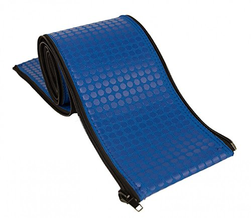Rail Runners Blue In-ground Swimming Pool Ladder & Handrail Protection   6-Ft-by-1.9-Inches Diameter Piece   Slip Resistant Grip   Keeps Railings Cool in The Sun   Durable Nylon Material