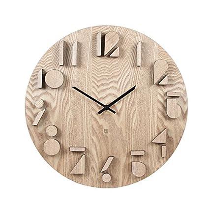xxin oscurare Reloj de pared salón dormitorio de cama de madera reloj digital Home pared decoración