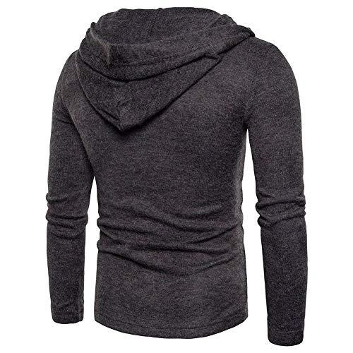 T Hauts Sweatshirt Veste Sweat Dunkelgrau shirt Cardigan Chemise Poches Longue Manteau qOvwXp1