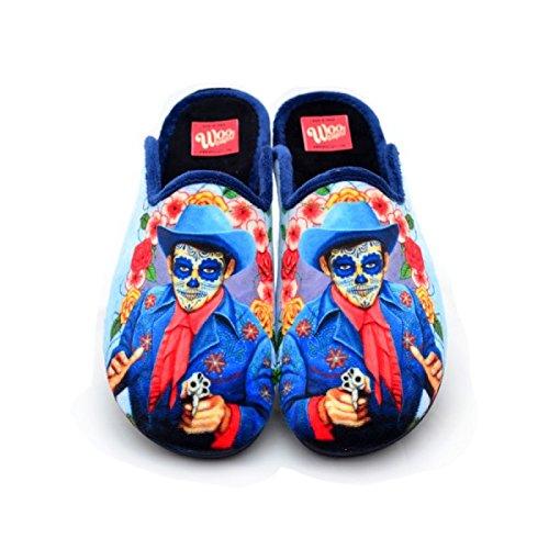 Zapatillas Casa Hombre Disparo Azul regalos originales - 48: Amazon.es: Zapatos y complementos