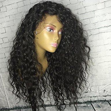 Frontal de encaje estilo rizado Cabello humano pelucas de pelo bebé Brazillian Lace Front Peluca para