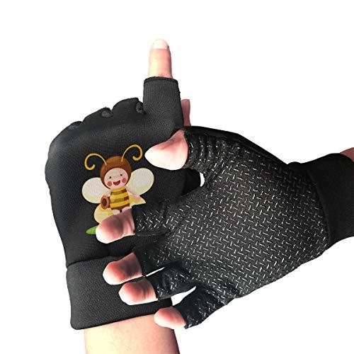 - Agilitynoun Bike Half Finger Gloves Little Bee Men Women Anti-Slip Shockproof Foam Padded Gel Pad Gym Boxing Sports Gloves