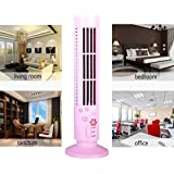 Wensltd Hot New Portable Mini USB Cooling Air Conditioner Purifier Tower Bladeless Desk Fan (Pink)