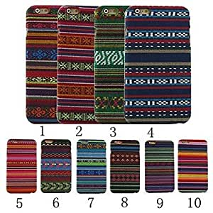TOPQQ Ethnic Stripe Design Pattern Plastic Hard Back Cover for iPhone 6 (Assorted Color) , 6#