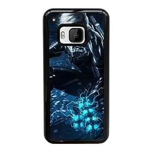 Funda HTC uno M9 caja del teléfono celular Negro Funda de Metal Gear Solid W6H7WJ