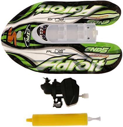 時計じかけ スピードボート  プール風呂 玩具  インフレータポンプ付き インフレータブル グリーン
