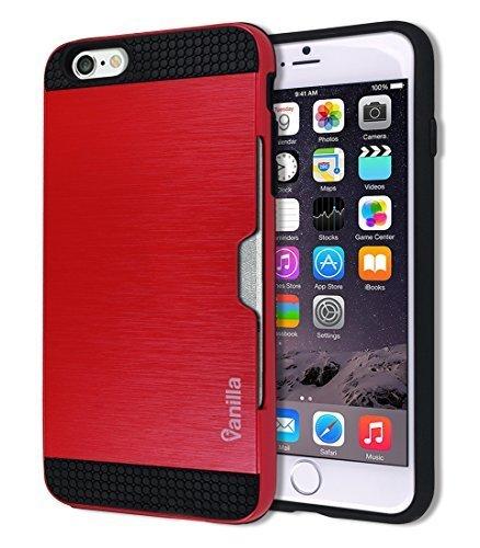 iphone-6-6s-metallic-card-slot-case-dual-layer-slim-fit-hard-pc-back-cover-tpu-hybrid-rubber-bumper-