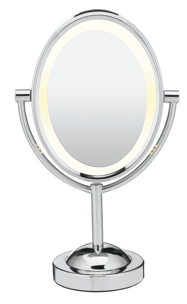 Makeup Mirror.Conair Double Sided Lighted Makeup Mirror Lighted Vanity Mirror 1x 7x Magnification Polished Chrome Finish