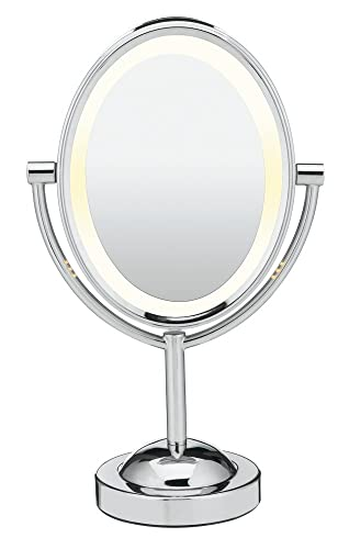 Conair Lighted Makeup Mirror.Conair Double Sided Lighted Makeup Mirror Lighted Vanity Mirror 1x 7x Magnification Polished Chrome Finish