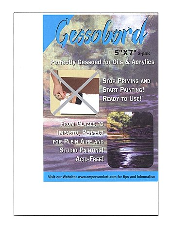 Ampersand Gessobord 9 in. x 12 in. 1/8 in. each [PACK OF 4 ]