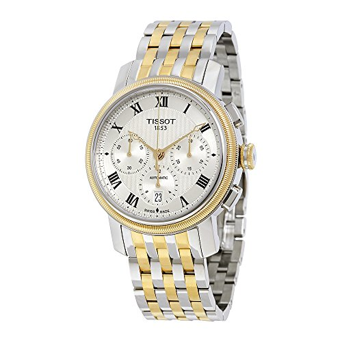 Tissot Men's 'Bridgeport' Swiss Automatic Stainless Steel Casual Watch, Color:Two Tone (Model: T0974272203300)