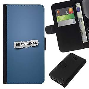 // PHONE CASE GIFT // Moda Estuche Funda de Cuero Billetera Tarjeta de crédito dinero bolsa Cubierta de proteccion Caso LG OPTIMUS L90 / BE ORIGINAL /