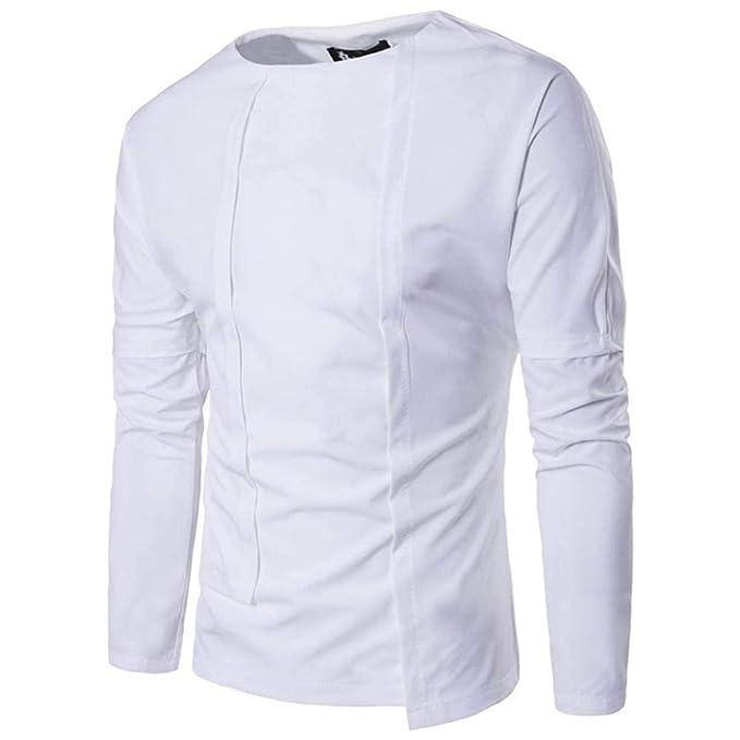 Resplend Camisa de Manga Larga Delgada de los nuevos Hombres del otoño del otoño Camisa de