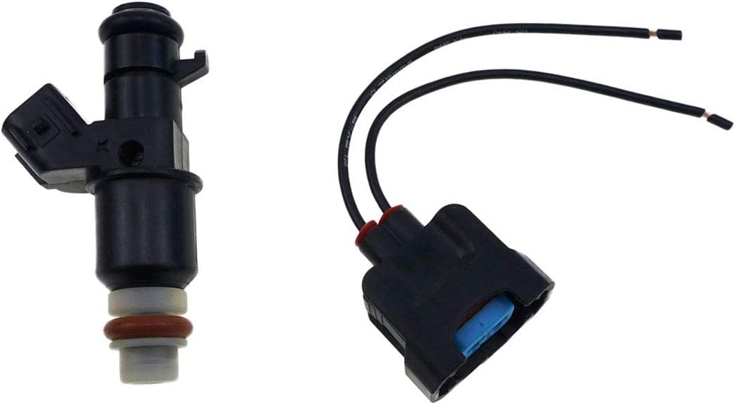 TIKSCIENCE Fuel Injector W//Plug for 2006-2009 Suzuki Quadracer 450 LTR450 LT-R450 LTR450Z2006-2009 Quadracer 450 LTR450 LT-R450 LTR450Z,for 2007 Suzuki Quadracer 450LTR450,Replace 15710-45G01