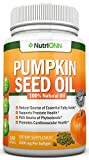 PUMPKIN SEED OIL - 1000MG - 180 Softgels - Cold-Pressed Natural Pumpkin Seed Oil - Natural Source Of Essential Fatty Acids - Great for Hair Growth, Prostate Health, Joint Inflammation and GI Tract