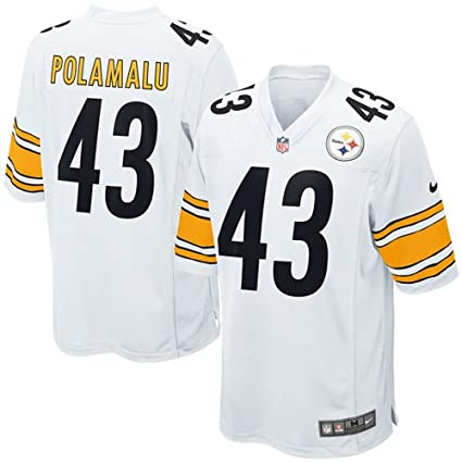 c18e9ec68eb Nike Pittsburgh Steelers Troy Polamalu  43 Youth Game Jersey